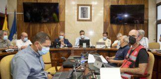 Comité Director del Plan Especial de Protección Civil y Atención de Emergencias por Riesgo Volcánico (Pevolca) celebrado hoy en el Cabildo palmero./ Cedida.