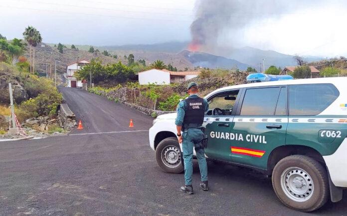 Erupcion en La Palma./ Twitter @guardiacivil