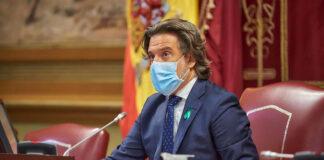 Gustavo Matos, presidente del Parlamento de Canarias./ Twitter @parcan