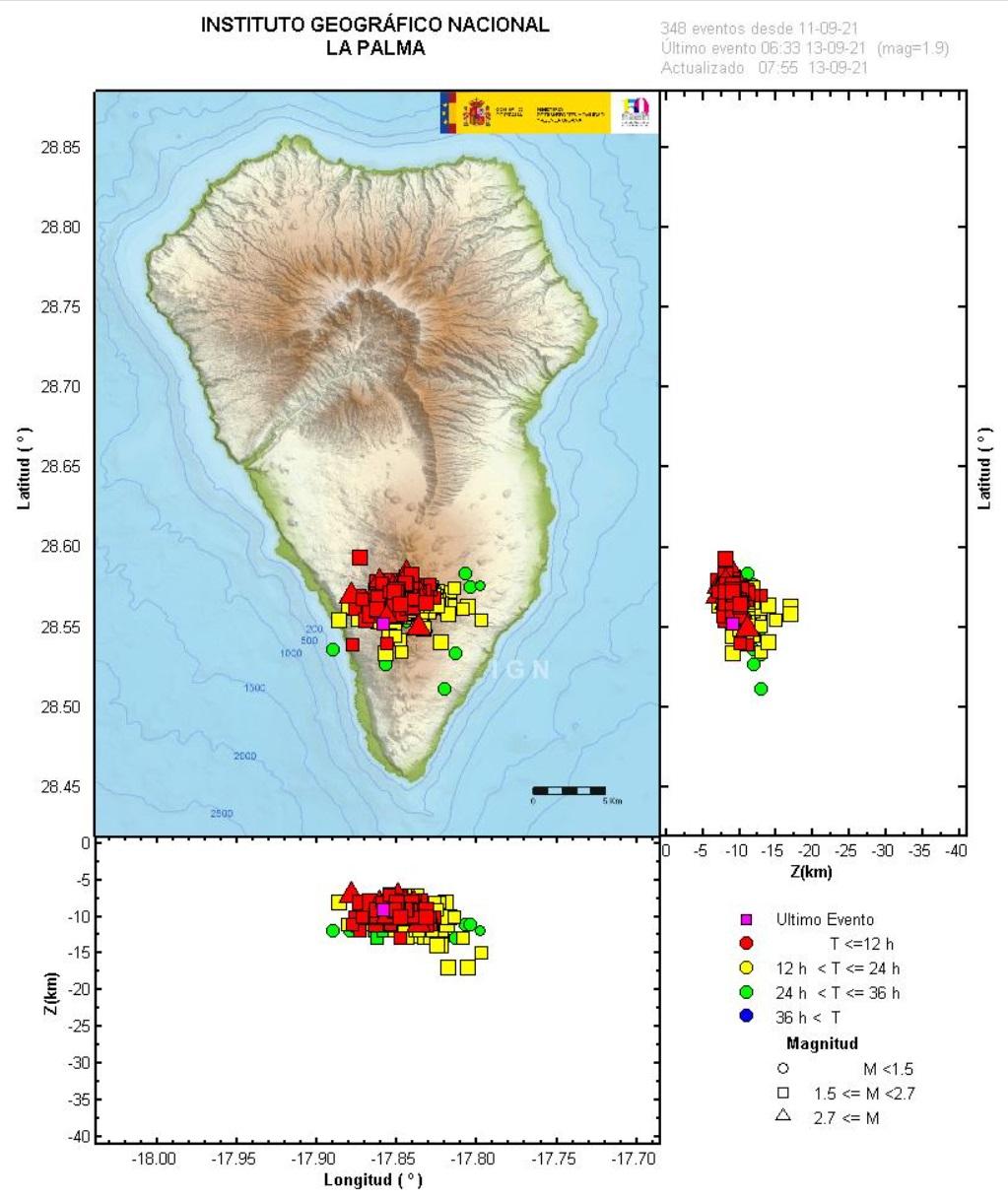 La Palma en nivel de riesgo Amarillo por la actividad sísmica en Cumbre Vieja