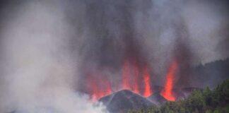 Imagen del cono principal del volcán publicadda por digital palmero El Time.