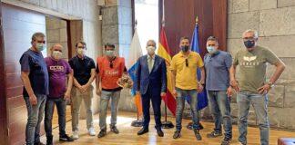 Reunión del pasado 2 de julio en Presidencia del Gobierno de Canarias./ Cedida.