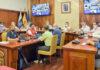 Un momento de la reunión con el Comité Director del PEVOLCA./ Cedida.