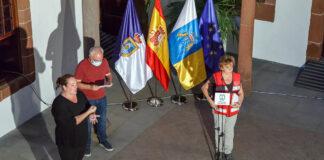 Miguel Ángel Morcuende y María José Blanco durante la rueda de prensa del PEVOLCA./ Cedida.