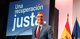 Pedro Sánchez, presidente del Gobierno de España, en un momento de la conferencia en Casa de América./ Pool Moncloa - Borja Puig de la Bellacasa.