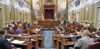 Pleno del Parlamento de Canarias de hoy 28 de septiembre./ Cedida.