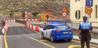 Puente provisional que instaló el Ejército de Tierra en el pueblo de San Andrés./ Cedida.