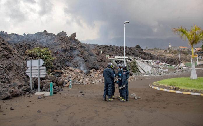 Erupción en La Palma, UME./ Twitter @UMEgob