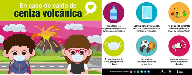 Sanidad pide a la población evitar las actividades lúdicas y deportivas al aire libre durante las emanaciones volcánicas
