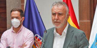 Rueda de prensa ofrecida hoy por los presidentes Ángel Victor Torres y Mariano H. Zapata./ Cedida.