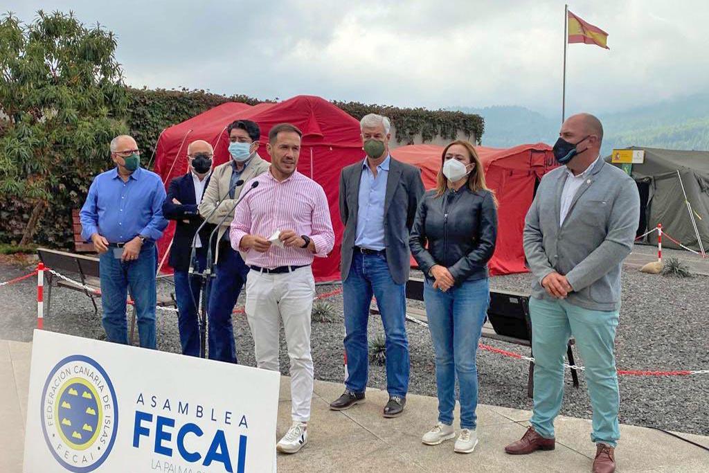 Los presidentes de los cabildos trasladan a La Palma el apoyo de todas las islas