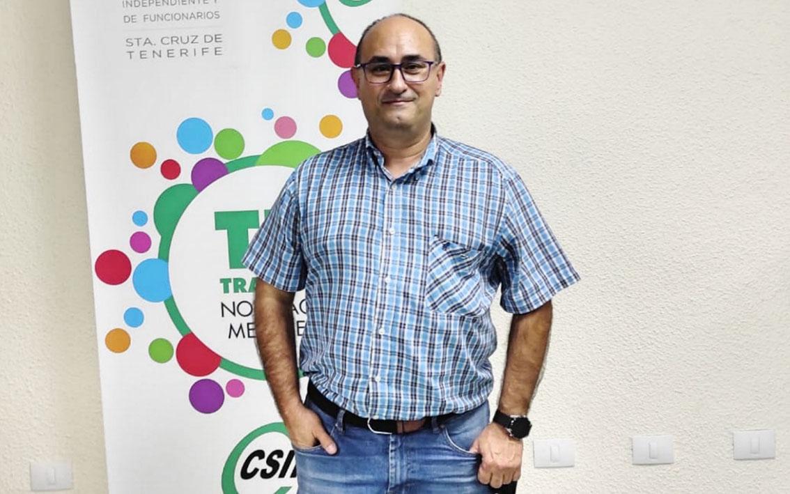 Entrevista a Javier Galván Gabino, responsable del sector autonómico del sindicato CSIF en Canarias