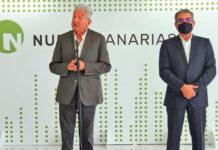 Rueda de prensa ofrecida por Pedro Quevedo y Román Rodríguez./ Cedida.
