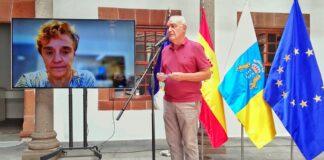 Rueda de prensa de hoy del Comité Director del PEVOLCA./ Cedida.