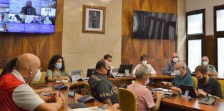 Reunión hoy del Comité Director del PEVOLCA./ Cedida.
