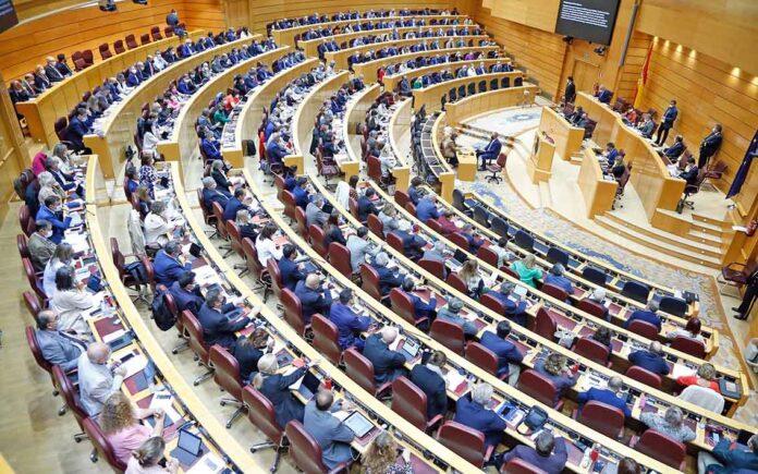 Pleno del Senado de España./ Twitter @Senadoesp